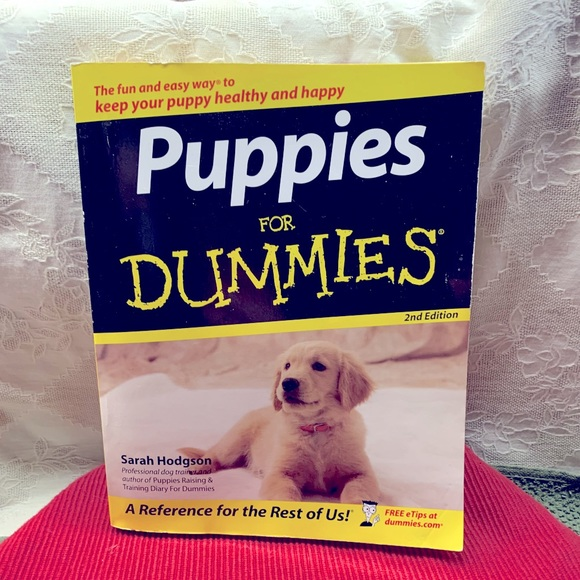 """⭐️5/$20 Paperback """"Puppies For Dummies"""""""
